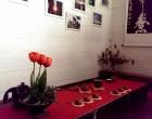 Ceremonia de te chino, mesa decorada para ceremonia