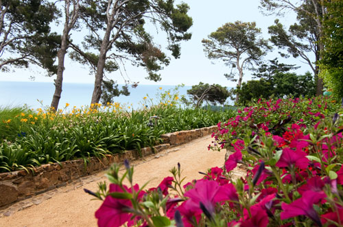 jardines mediterraneos de cap roig, flores, mar, palamos, notas naturales, costa brava