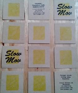 SlowMov Barcelona, post it, notas naturales, cartel