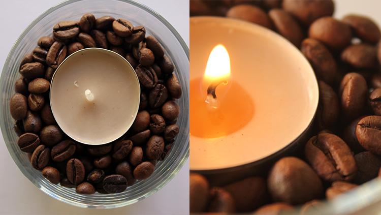 ambientadores naturales, vela, granos cafe, notas naturales