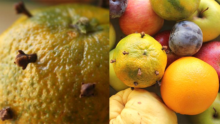 ambientadores naturales, frutas otoño, citricos, clavo de olor, notas naturales