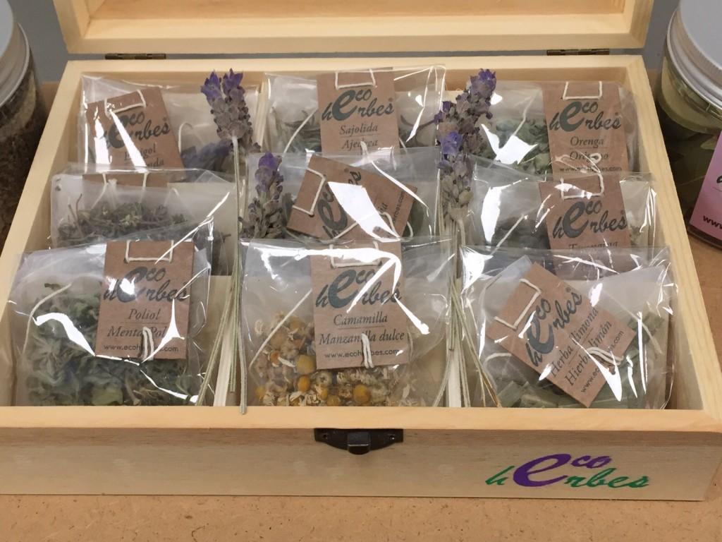 Sorteo herbolarios barcelona, infusiones, caja, notas naturales