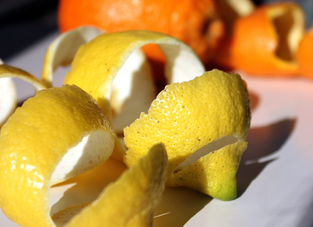 Infusiones con cítricos, piel limon, piel naranja, notas naturales