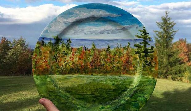 imagenes inspiradoras, pintura platos, notas naturales