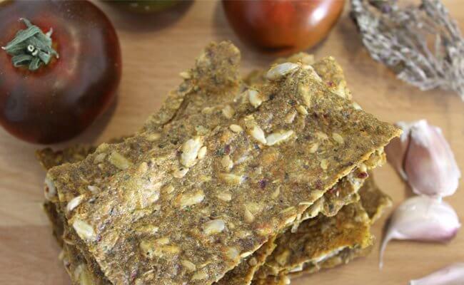 crackers raw receta para deshidratador de alimentos, notas naturales