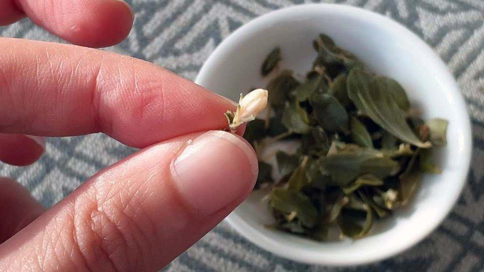 detalle hojas y flor té de buch´