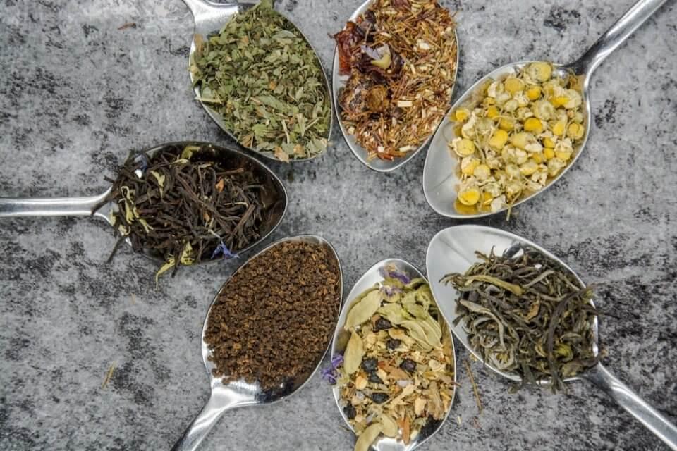 mezclas de hierbas para infusiones a granel