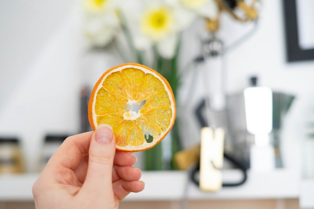 rodaja de naranja deshidratada