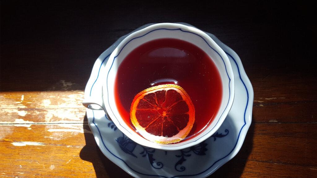 tisana frutal con naranja
